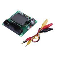 kits de condensadores al por mayor-3.7 V LCD Transistor Gráfico Probador Inductor Condensador ESR Meter DIY Kit Multifunción Instrumentos Eléctricos