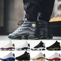 Wholesale famous leather basketball shoes resale online - Famous Trainers XIII Hologram Mens womens sports Basketball Shoes Barons white black grey teal
