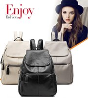 Wholesale Football Handle - 3 Colors Women School Bags PU Leather Backpacks Fashion Style Soft Handle Multifunction Travel Bags G149L
