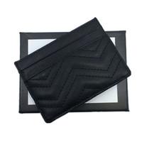 metal kredi kartı sahipleri kadınlar toptan satış-Gerçek Deri Kredi Kartı Tutucu Cüzdan Klasik Siyah Kadınlar için Ince KIMLIK Kartı Durumda Seyahat 2018 Yeni Moda Sikke çanta Mini Cep Çanta Üst