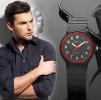 Wholesale geneva rubber watch fashion online - New fashion mens soft rubber sport geneva watch men students boys students casual sport simple design quartz wrist watches