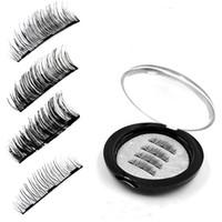 kits de pestañas al por mayor-2018 nuevas pestañas falsas magnéticas con 3 imanes Imán 3D hecho a mano Lashes Eye Lashes Kit de maquillaje