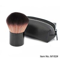 Wholesale facial blush - MC Professional Makeup Kabuki Brush Facial Cosmetic Brush Blush Powder Brush Tool With Pouch CCA8502 100pcs