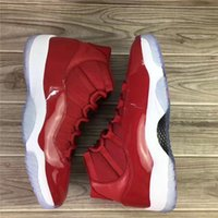 Wholesale Jump Boxes - 2018 Air Retro 11 Gym Red Chicago Men Basketball Shoes Top Quality Real Carbon Fiber High Outdoor Shoes Jump Men US 7-13 With original box