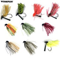 Wholesale 14g lures for sale - 10Pcs g g g Skirt Lure Lead Jigs Head Hook Bass Jigs Rubber Artificial Baits River Fishing Buzz Jig Head Hooks Fishing Lure
