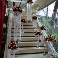 grânulo de cristal guirlanda venda por atacado-Eco-Friendly 30m acrílico cristal Beads Strand Wedding Party Garland Chandelier aparamento Cortina de iluminação da decoração Octagon Beads DIY