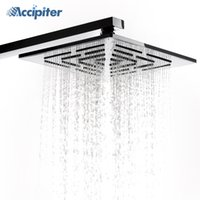 Wholesale rain shower 12 - 12 Inch (30 CM) Stainless Steel Square Rain Shower Head. 556 Holes Water Out Rainfall Showerheads (Not Including Shower Arm)