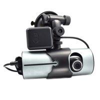 Wholesale rear view car dvr camera online - X3000 High Definition Dual Lens GPS Module Driving Recorder Car DVR Camera Night Vision Driving Video Recorder Rear View Cam