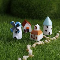 ingrosso piante da giardino casa-Decorazione di Natale realistica Ornamento da giardino Carino mini casa chiesa Figurine Fata Animale Dollhouse Pianta Decor Accessori 20PC wn416