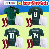 Wholesale beige uniform - 2018 World Cup Mexico CHICHARITO soccer Jersey Adult Kits home G.DOS SANTOS O.PERALTA H.LOZANO R.MARQUEZ Soccer uniform Shirts + Socks