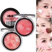 ubub makeup großhandel-UBUB Marke Natural Mineral Blusher 8 Farben Wasserdicht Kosmetik Textmarker Contour Makeup Langlebige Bronzer Gebacken Blush