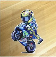 carreras de vinilo al por mayor-Newbee 12 cm Moto GP Reflective Vinyl Motocicleta 3D etiqueta engomada del coche cubierta Rossi VR46 para Motobike Racing casco portátil equipaje