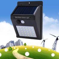luces de vinilo al por mayor-20 LED de Energía Solar PIR Sensor de Movimiento Luz de Pared Al Aire Libre Impermeable Street Yard Path Home Garden Seguridad Lámpara Ahorro de Energía