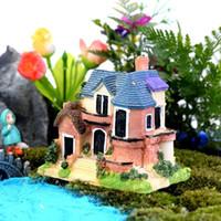 ingrosso piante da giardino casa-Decorazione di Natale realistica Ornamento da giardino Casa carina villa Figurine Fata animale casa delle bambole Decorazioni vegetali Accessori 100PC wn414