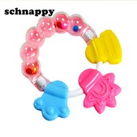 Wholesale teeth toys for babies for sale - Cartoon Baby Baby Teether Educational Toys Teeth Biting For Babies Baby Rattle Toy For Bed Bell Silicone Handbell Jingle