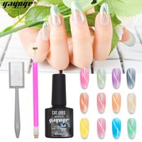 Wholesale YAYOGE Crystal Cat Eye Gel ml UV Nail Gel Polish Varnish Magnet Color LED Long Lasting Lacquer Soak off Manicure Elegant