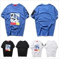 Wholesale mountain tee shirts - Harajuku t shirt Snow Mountain Tee Box Logo t shirts Mens Print tops T-shirts Summer Short Sleeve Loose skateboard fashion tshirt