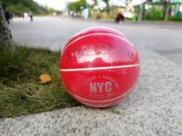 ingrosso palline in pelle-Fashion Spalding SUP New York Pallacanestro rosa in edizione limitata taglia 7 Street Basket in PU resistente all'usura in pelle pallacanestro