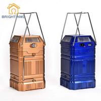 ingrosso lanterna di fase di illuminazione-BRIGHTINWD Solar / USB Charging Lanterne portatili estensibili Luci LED colorate da palcoscenico Mini luci da campeggio con illuminazione portatile