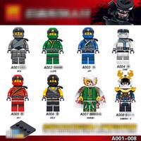Wholesale building block sets - A001-008 Superhero building blocks 2018 New children cartoon movie Movable Action Figure Minifig Toys 8pcs set B