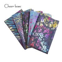 kumaş çiçek ev toptan satış-40 * 50 CM Pamuklu Denim Kumaş Bitki Çiçek Patchwork Baskılı Tekstil Dikiş Malzemeleri Için DIY Dikiş Malzemeleri Ev Tekstili Kumaş