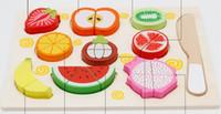 mutfak oyuncağı ücretsiz toptan satış-Ücretsiz kargo sıcak mutfak cut set meyve ve sebze oyuncakları bulmaca ahşap oyuncaklar Ecd Okul Öncesi Eğitim