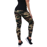 Wholesale Camouflage Leggins - New Fashion 2018 Camouflage Leggings Printing Elasticity Armyu Green Legging Blue Gray Fitness Pant Leggins Casual Legging For Women