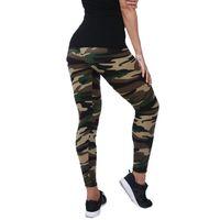 leggings azul verde al por mayor-Nueva Moda 2018 Leggings de camuflaje de impresión Elasticidad Armyu Verde Legging Azul Gris Pantalones de Fitness Leggins Legging Casual para mujer