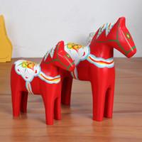 sculptures en bois achat en gros de-Ameublement de salon de décoration artisanat en bois artisanat en bois, sculptures en bois animaux cheval ornements