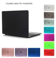 Wholesale New PC Crystal shell case cover for Apple Macbook Air Pro Retina inch Touch Bar laptop Cases For Macbook bag