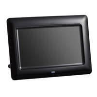 Wholesale digital frame remote control resale online - 7 inch Screen X480 Full Function Digital Photo Frame Clock Music Video Player with Remote Control Electronic Album Picture Frame