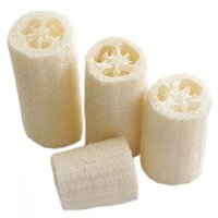 Natural Loofah Body Bath Shower Sponge Back Brush Brush Exfoliating Body Cleaning Brush Natural Luffa Cut