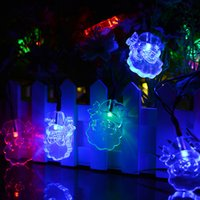 Wholesale santa figures for sale - Group buy Holiday LEDs Santa Claus Shape Solar String Lights Waterproof for Christmas Tree Patio Gardens Party Decoration