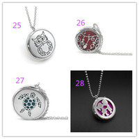 Wholesale Magnet Lockets - 16 styles Aromatherapy Essential Oil Diffuser Necklace magnet close Locket Pendant 316L Stainless pendant necklaces Jewelry xx002