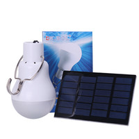 Wholesale solar energy lighting for sale - Group buy Portable LED Bulb Light S W lm Solar Energy Lamp Charged Useful Solar Camping Lamp Home Outdoor Lighting Hot