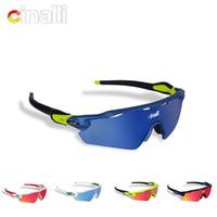 защитные очки очки оптовых-Naga sire CINALLI C-078 Sunglasses Cycling Racing Outdoor Sport Googles Protective TR90 Frame Eyewear w/ Black Polarized Lens OK