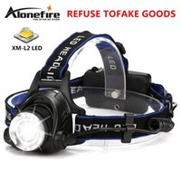 Wholesale cree fire - Alone Fire HP79 Head lamp Cree XM-L2 LED 4000LM led Zoom Headlamp Home Search Light Fishing Light for 1 2 x18650 battery