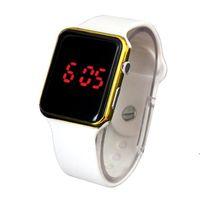silicona electrónica relojes deportivos al por mayor-Venta caliente Sport Digital Watch Hombres Mujeres Square LED Reloj de silicona Electronic Wrist LED Relojes Reloj relogio digital reloj
