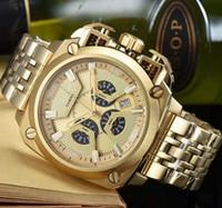 relógios mens grande banda venda por atacado-Nova DZ Mens Relógios Duplo ponteiro Grande Mostrador de discagem 58mm Top Marca de Quartzo Relógio De Aço Banda DZ7344 7344 Moda relógios de Pulso Para mim