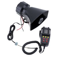 electronic loudspeaker 2018 - ar speaker sound 100W 7 Sounds Motorcycle Car Loud Speaker Electronic Warning Siren Horn Alarm Firemen Ambulance Loudspeaker with MIC Mic...