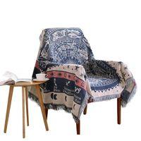 гобелены оптовых-Northern Europe Sofa Blanket Geometric Pattern Carpet For Living Room Bedroom Rug Bedspread Dust Cover Table Cloth Tapestry A30