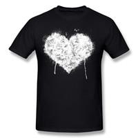 tissus en coton blanc achat en gros de-Le meilleur choix des hommes 100% coton Grunge coeur de coton - T-shirts blancs T-shirt à manches courtes bleu marine O Neck des hommes 3XL T-shirts classiques