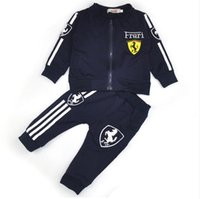 Wholesale fall clothes for sale - Boys clothes girls tracksuits for kids sport suit spring Fall set vetement garcon Cardigan baby jacket trousers toddler clothing