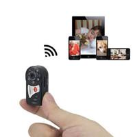 Wholesale wireless micro dvr - Portable Mini Q7 WIFI P2P Surveillance Micro Remote Camera Security DVR Night Vision Camera Wireless IP Camera Pocket Mini Camcorder