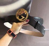 Wholesale European Size 46 - High quality double chain buckle true leather designer belts European style brand belt business casual men waistbands