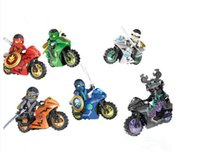 Wholesale Motorcycle Build - 6pcs lot Motorcycle Building Blocks Bricks Toys Motorcycle for kids gifts