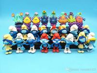 jouets élves achat en gros de-24pcs Set Schtroumpfs Le Village perdu Elfes Papa Smurfette Clumsy Figurines Masque de Mystère Cake Topper Jeu Set Jouet