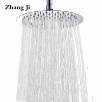 Wholesale Quality Bathroom Fixtures - 25cm big round rainfall shower head Bathroom fixture 10'' high quality stainless steel waterfall shower nozzle New ZJ051