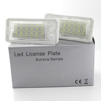 Wholesale audi a3 license plate light resale online - 2x White LED license Plate lights For Audi A3 S3 A4 S4 B6 B7 A6 S6 A8 Q7 NO Error Canbus license Number Plate lights Bullb V