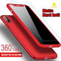 Wholesale iphone hard case - Ultra thin Degree Coverage Full Body Case Protection Hard PC Full Cover Case for iPhone Plus iPhone X SPlus Plus Tempered Glass